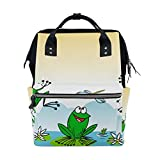 BENNIGIRY - Bolsa de pañales con diseño de rana de lirio y agua, gran capacidad, para viajes,...