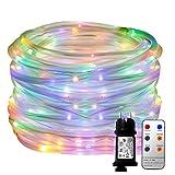 LED Lichterschlauch YINUO LIGHT 10M 136 LED 8 Modi Kupferdraht Weihnachtsichterkette mit Fernbedienung,Lichtsensor Dekoration für Palmen Hallowenn Garten Party Weihnachten Hochzeit