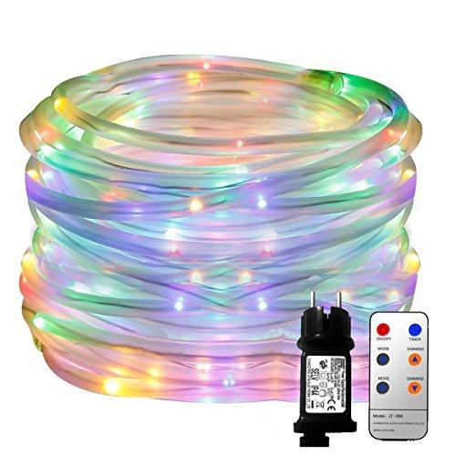 YINUO LIGHT LED Lichterschlauch 10M 136 LED 8 Modi Kupferdraht Weihnachtsichterkette mit Fernbedienung,Lichtsensor Dekoration für Palmen Hallowenn Garten Party Weihnachten Hochzeit