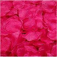 Vi.yo 1000Pcs Pétalos rosa seda Pétalos artificiales flor Rose Ramo Decoración hogar del florero boda ceremonia (Rosa rojo)