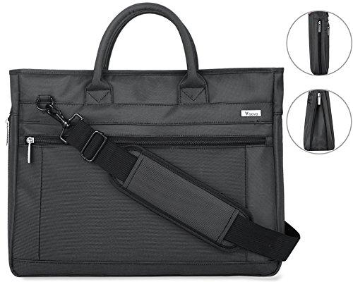 15ae9d6c5503 Voova Laptop Briefcase 15.6 Inch Laptop Bag Messenger Shoulder Bag with  Handle a