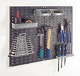Lochplatten Werkzeugwand 2-teilig mit 18 Gerätehaken