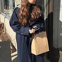 TJOIREJ Abrigos De Mujer Tipo De Cazadora Larga De Manga Larga De Otoño Cazadora De Doble Botonadura Suelta, Azul, S