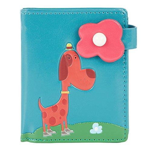 Shagwear Junge-Damen Geldbörse, Small Purse: Verschiedene Farben und Designs: (Stadt Hund Blaugrün/ City Dog)