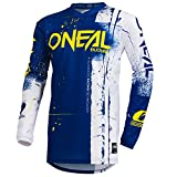 O'Neal Element Shred Kinder Motocross Jersey MTB Mountain Bike Fahrrad Enduro FR DH Trikot, 002E-Youth, Farbe Blau, Größe L