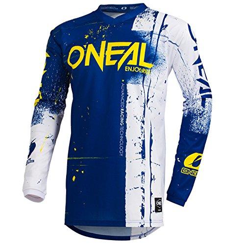 O\'Neal Element Shred Kinder Motocross Jersey MTB Mountain Bike Fahrrad Enduro FR DH Trikot, 002E-Youth, Farbe Blau, Größe M