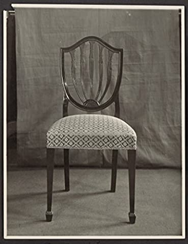 POSTER Chair fabric upholstery front view Government House Canberra 1927 Australia Wall Art Print A3 replica