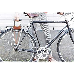 Oopsmark U-Lock Case para Fechaduras de Bicicleta Kryptonita - Couro Preto