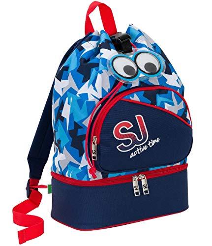 Borsa Zaino Zainetto Tempo Libero SJ Gang Sport Bag con vano portascarpe Rosa o Azzurra 25x40x15 cm -SJ Active Time Seven 2018