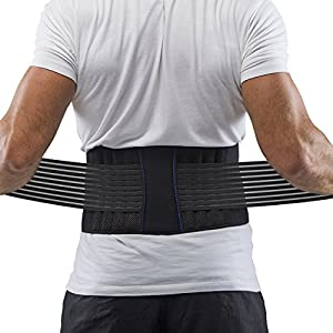 Supportiback® Posture Therapy Lumbar Belt - Lower Back Brace & Support Belt - Breathable Mesh Panels, Dual Adjustable, Slip-free Straps - Lightweight & Low Profile Under Clothing