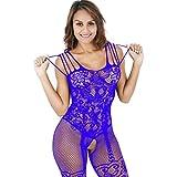 Damen Spitze Kleid Body Unterwäsche Nachtwäsche Unterwäsche Puppe Damen Versuchung Unterwäsche ❤️Timogee Artikel Fischnetz Nachtkleid Uniformen Babydoll Erotik Dessous (Blau)