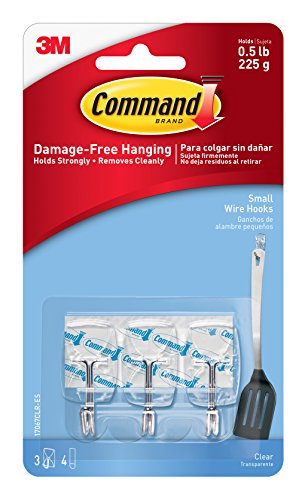 command-17067clr-small-wire-hook-with-4-strips-clear-pack-of-3