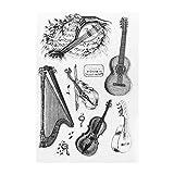 bhty235 Transparent Timbre Bricolage Corde Musique Silicone Effacer Timbre Joint Feuille DIY Scrapbook Gaufrage Album Décor Artisanat