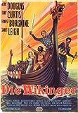 Los vikingos Póster de película - 11 x 17 en alemán de 28 cm x 44 cm Kirk Douglas Ernest Borgnine Janet Leigh Tony Curtis James Donald Alexander Knox
