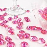 Deko-Diamanten 12 mm dunkelrosa 100 Stück - Streudeko Deko Steine Kristalle Diamanten