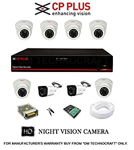 CP PLUS 8 HD CCTV Cameras and 8Ch. HD DVR Kit with 2 TB Hard Disk + all Accessories