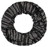 Intermoda Loop leichter Jersey Schlauchschal Damen Herren Unisex Onesize Schwarz Grau Anthrazit meliert Streifen gestreift Vintage Patchwork Casual