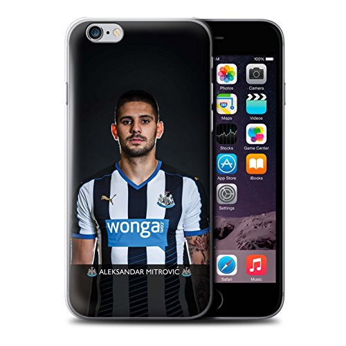 Offiziell Newcastle United FC Hülle / Case für Apple iPhone 6S+/Plus / Pack 25pcs Muster / NUFC Fussballspieler 15/16 Kollektion Mitrovic