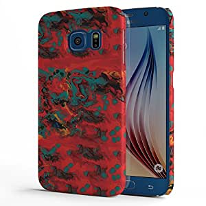 Koveru Designer Printed Protective Snap-On Durable Plastic Back Shell Case Cover for Samsung Galaxy S6 - Paint Pattern