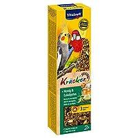Vitakraft Cockatiel Kracker Bird Food , Honey - 180 gm