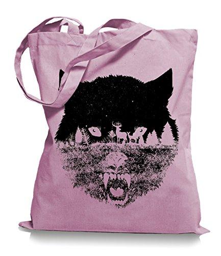 Wolf Forrest Stoffbeutel |Rettet die Wölfe Tragetasche Classic Pink
