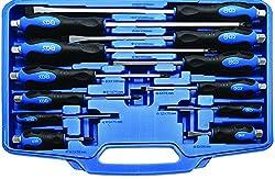 BGS 7895 | Schraubendreher-Satz | 12-tlg. | durchgehende Klinge mit Außensechskant | mit ergonomischem Softgriff