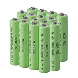 Noza Tec AAA Pre-Charged Rechargeable Batteries NI-MH 1.2V 600mAh For Outdoor Garden Lights-Pack of 16
