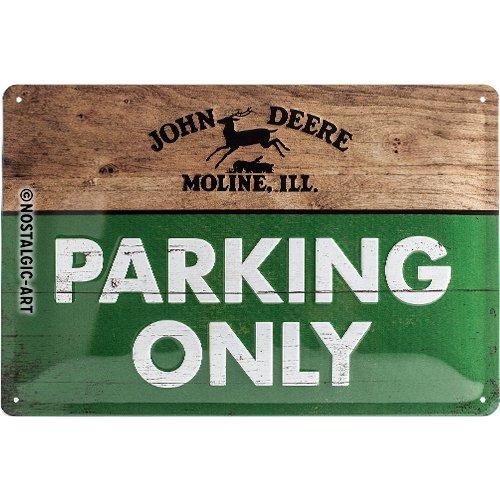 Nostalgic-Art 22258 John Deere - Parking Only, Blechschild 20x30 cm