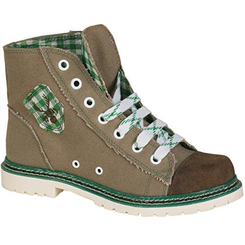 Sneaker Jacky braun/grün rustikal, braun/grün, 42