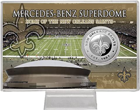 New Orleans Saints Silver Coin Card - Stadium