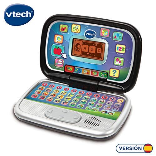 VTech Diverblack PC - Ordenador Infantil Educativo que Enseña Diferentes Materias a Través de sus Voces, Frases y Melodías, Multicolor (80-196322)