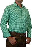 trenditionals Trachtenhemd Martin kariert mit edlen Karo Kontrasten Übergröße 4XL - 8XL, Größen:6XL;Farbe:apfel - weiss
