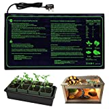"""RINBO Seedling Heat Mat, Heating Mat Heated Propagator, Hydroponic Seedling Reptile Plant for Indoor Outdoor Gardening Greenhouse, Durable Waterproof 100% Safe, 10""""x20.75""""/25x50cm"""