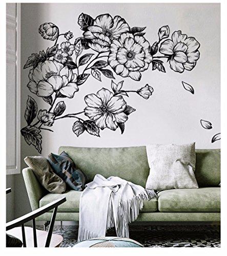 en Tapete Selbstklebende Sofa Hintergrund Wandaufkleber Wohnzimmer Schlafzimmer Nacht Dekorative Wandaufkleber, 116 * 132 Cm (Skizzen De Halloween)