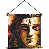 YaYa Cafe Meditating Lord Shiva Wall Paintings, Hangings Canvas Scroll Poster For Home Decor - 15x20 Inches