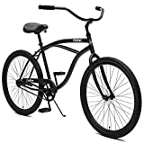 Critical Cycles Herren Chatham Men's Single Speed, Matte Black w/White Beach Cruiser, Matte Graphite w/ White, One Size