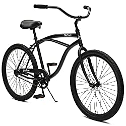 Critical Cycles Herren Chatham Men's Beach Cruiser Single Speed, Matte Black w/White Graphite, One Size