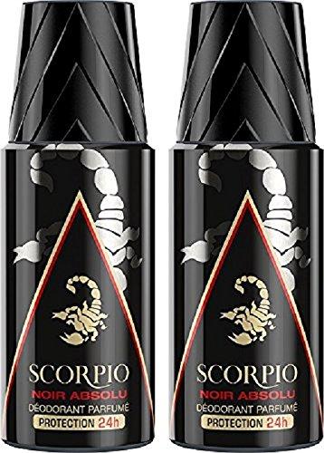 Scorpio - Déodorant Homme - Noir Absolu - Atomiseur 150 ml...