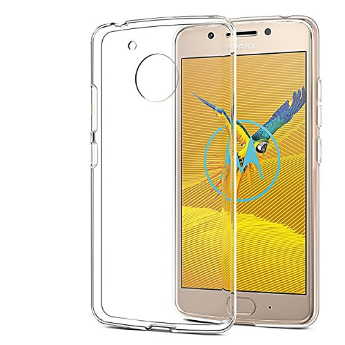 Efonebits(TM) Crystal Clear Hot Transparent Premium Soft Silicone Back Case Cover For Motorola Moto G5 (2017) [NOT Fit for Moto G5 Plus]  available at amazon for Rs.99