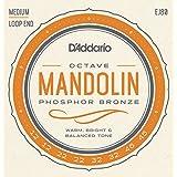 D'Addario EJ80 tamaño mediano 12-46 bronce fósforo Octave cuerdas para mandolina