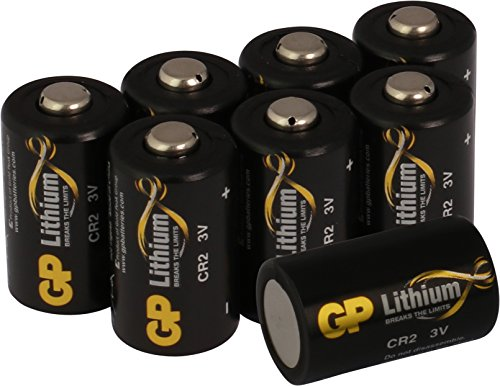 GP Lithium Batterien CR2 3V Schwarz-Gold (CR-2, CR15H270, 5046LC) 3 Volt für z.B. Digitalkameras, Camcorder, Rauchmelder, Taschenlampen, Laserpointer, etc. (8 Stück) -