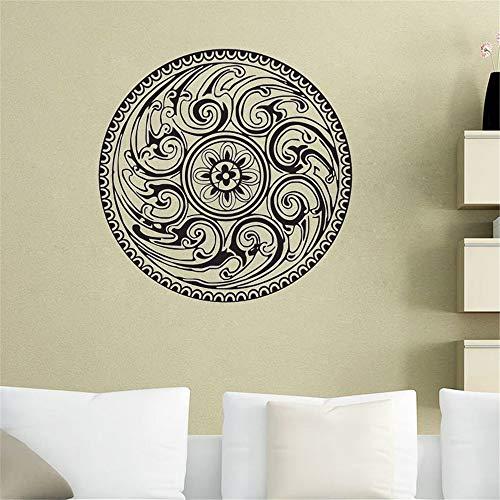 wlwhaoo Heißer wandtattoos indische Mandala Muster Yoga Vinyl Aufkleber wohnkultur Kunst wandbilder Schlafzimmer Studio Fenster schwarz 30x30 cm