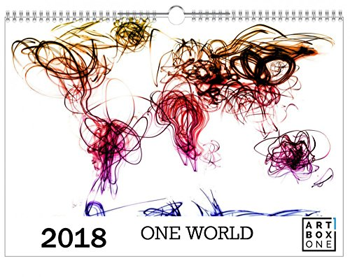 artboxONE Kalender 2018 One World Wandkalender A3 Kartografie, Reise