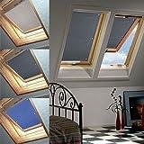 96 * 120cm Grau Dachfenster Rollo Verdunkelung Thermorollo Sonnen & Sichtschutz