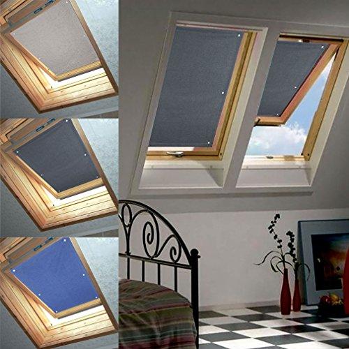 76 * 93cm Grau Dachfenster Rollo Verdunkelung Thermorollo Sonnen & Sichtschutz
