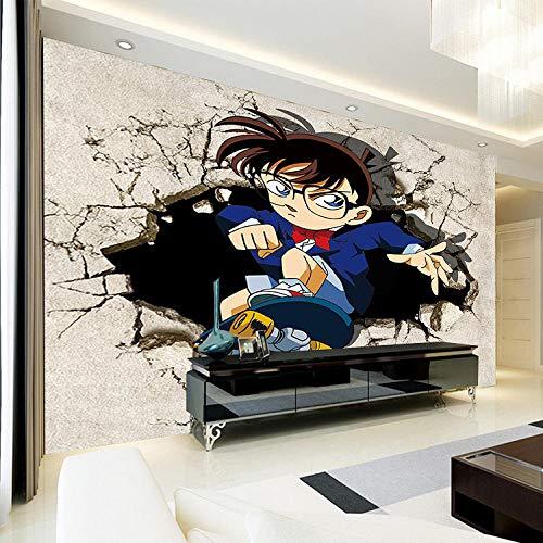 WWMJBH Tapete Selbstklebend (B) 350X (H) 256Cm Japanische Anime Wandbild Detektiv Junge Teenager Fototapete Kinder Junge Schlafzimmer 3D Tapete Wandkunst Wohnzimmer Tv Hintergrund Tapete Dekoration
