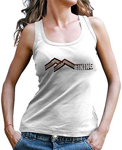 Stylotex Damen Tank Top Mountain Biking Sport T-Shirt Fitness Ladies, Farbe:weiss;Größe:L (Mountain-girl Tank Top)
