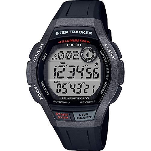 CASIO Herren Digital Quarz Uhr mit Harz Armband WS-2000H-1AVEF