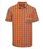 Camp David Karohemd Kurzarm Regular Fit Flame orange M