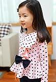 Baby Junge Kleidung Outfit, Honestyi Kleinkind Säuglings Baby Mädchen Punkt Druck Kleidungs Bogen Oberseiten T Shirt + Hosen Ausstattungs Satz (Roas,130) Test